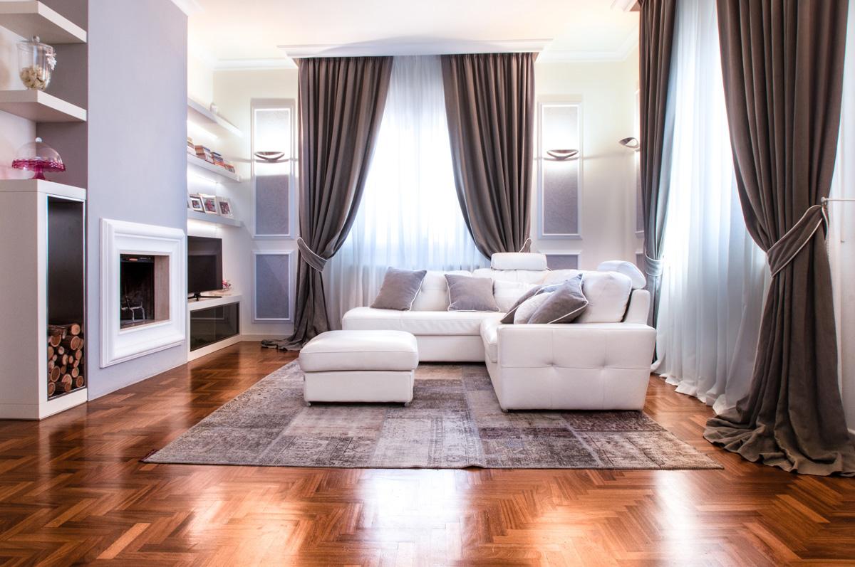 Tende arredo cheap tende tende di lusso tessuto di juta for Arredo casa tende